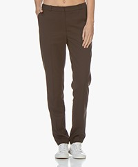 studio .ruig Bardot Straight Leg Pants - Chocolate
