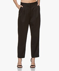 Denham Shoji Wool Pleated Pants - True Black