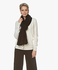 Repeat Scalloped Cashmere Scarf - Black