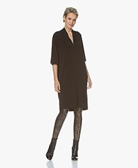 By Malene Birger Bijou Crepe Jersey Dress - Black