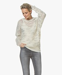 IRO Marlou Open Knitted Sweater - Mixed Ecru
