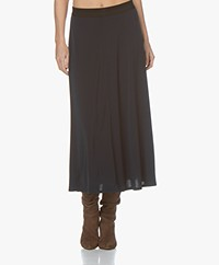 By Malene Birger Anabel Crepe Jersey Circle Skirt - Night Blue