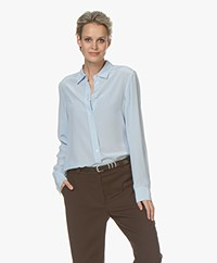 Filippa K Classic Zijden Blouse - Atlantic Blue