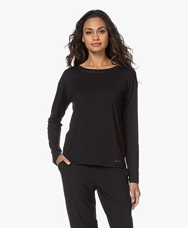 Calvin Klein Modal Jersey Lounge Longsleeve - Zwart