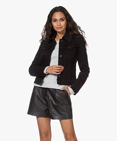 Drykorn Somerton Stretch Denim Jacket - Black