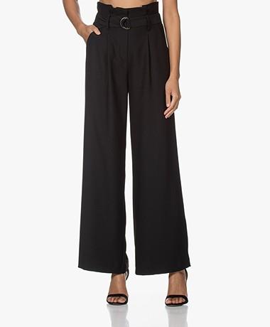 LaDress Basel Paperbag Crepe Pant - Black