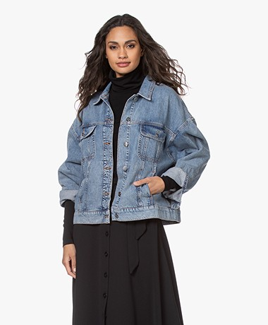 Denham Hampstead Oversized Denim Jack - Vintage Indigo