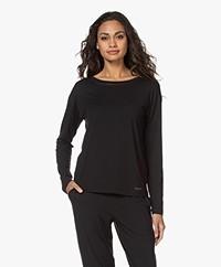 Calvin Klein Modal Jersey Lounge Long Sleeve - Black