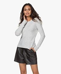 American Vintage Damsville Slim-fit Sweater - Heather Grey