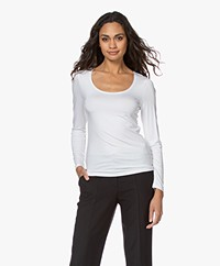 no man's land Basic Viscose Longsleeve - Wit