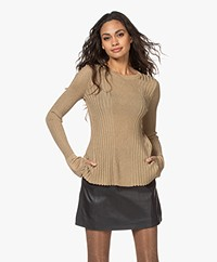 By Malene Birger Orlia Knitted Lurex Sweater - Gold