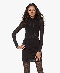 Wolford Maia Mesh String Body - Black