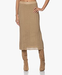 By Malene Birger Orista Divided Gebreide Lurex Rok - Goud