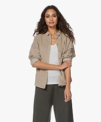 by-bar Celia Corduroy Overhemdblouse - Zand