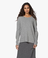 Sibin/Linnebjerg Forrest Merino Blend Knitted Sweater - Dark Grey Melange