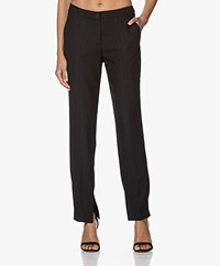 LaDress Montreal Crepe Pants with Slit - Black