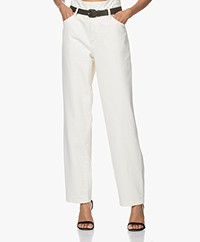 Les Coyotes de Paris Dawn High-rise Straight Jeans - Off-white