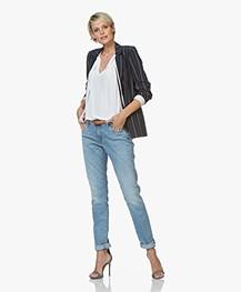 Denham Monroe OX Girlfriend Fit Jeans - Blue