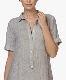 Belluna Jerry Garment-dyed Linen Tunic Dress - Beige Melange