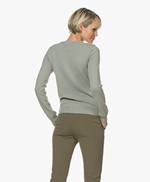 extreme cashmere N°41 Body Basic Cashmere Sweater - Bean