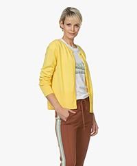 Sibin/Linnebjerg Mila Merino Short Cardigan - Yellow