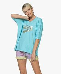 Zadig & Voltaire Portland Happy Print T-shirt - Turquoise