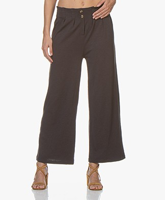 BY-BAR Poppy Flame Jersey Pants - Phantom Black