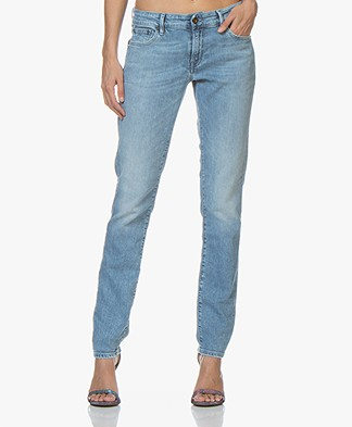Denham Monroe OX Girlfriend Fit Jeans - Blue