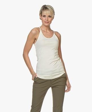Filippa K Soft Sport Cotton Strap Tank - Butter