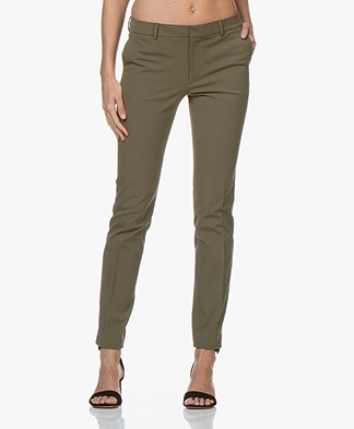 Filippa K Sophia Cotton Stretch Pants - Olive Drab