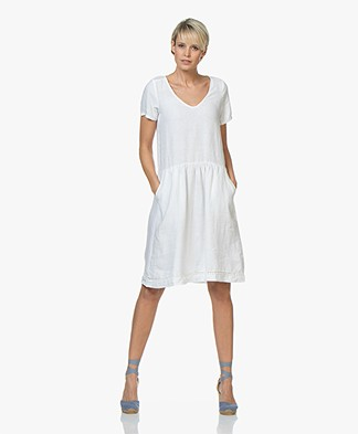 Josephine & Co Caspar Linen Dress - White