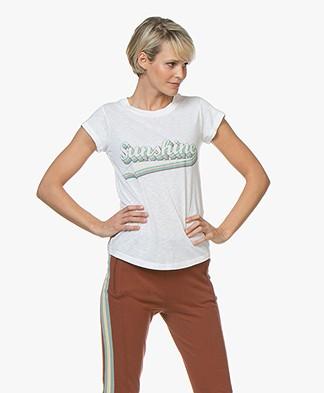 Zadig & Voltaire Skinny Sunshine Print T-shirt - Wit