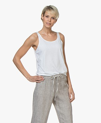 Repeat Lyocell Mix Tanktop - Wit