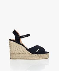 Castaner Blaudell Canvas Espadrille Wedge Sandals - Azul Marino
