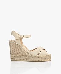 Castaner Blaudell Canvas Espadrille Wedge Sandals - Ivory