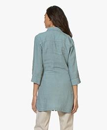 Belluna Jennifer Linen Tunic Blouse - Emerald