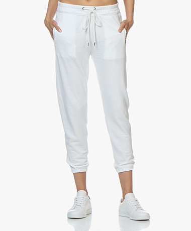 James Perse Fleece Pull On Sweatpants - White