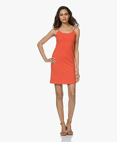 Kyra & Ko Rikkie Jersey Spaghetti Strap Dress - Red