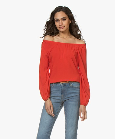 Kyra & Ko Clea Off-shoulder Blouse - Red