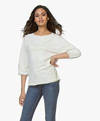 Plein Publique La Bisou Logo Sweatshirt -  Ecru/Ecru