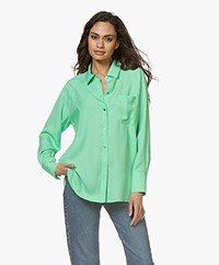 Repeat Tencel Twill Blouse - Grass