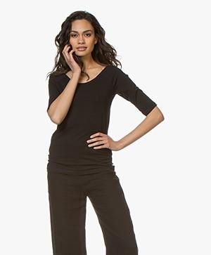 Kyra & Ko Annie Mid Sleeve T-shirt - Black