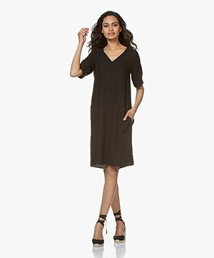 Kyra & Ko Ayla Linen Dress - Black