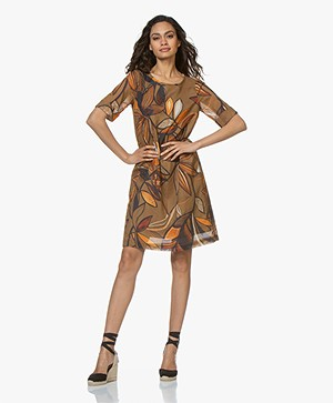 Kyra & Ko Kiki Voile Printed Dress - Coconut