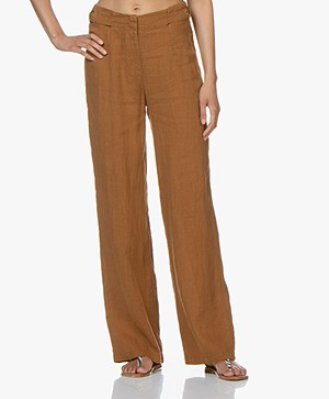 Kyra & Ko Roxx Wide Linen Pants - Coconut