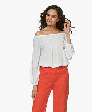 Kyra & Ko Clea Off-shoulder Blouse - Wit