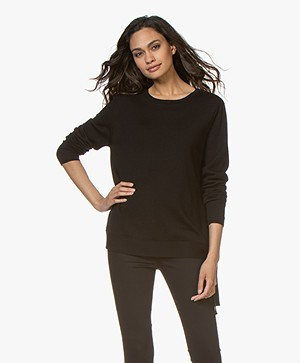Sibin/Linnebjerg Ballino Merino Sweater - Black