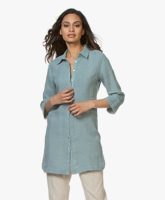 Belluna Jennifer Linen Tunic Blouse - Emerald
