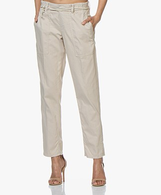 Drykorn Bad Loose-fit Cotton Blend Pants - Beige