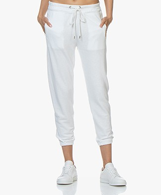James Perse Fleece Pull On Sweatpants - White